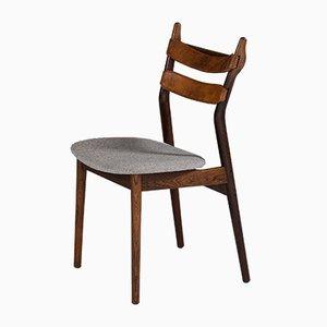 Chaises de Salle à Manger en Cuir et Tissu par Helge Sibast pour Sibast møbelfabrik, Danemark, 1950s, Set de 6
