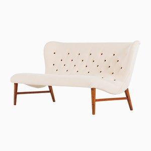 Sofa mit Stoffbezug & Gestell aus Buche von Erik Bertil Karlén für Firma Rumsinteriör, 1940er