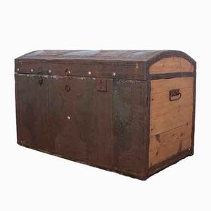 Antique Bohemian Fir & Tin Trunk