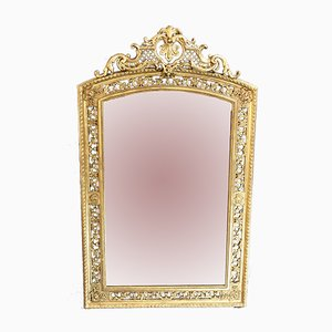 Large Antique French Gold Leaf Mirror