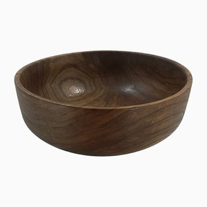 Black Poplar Wooden Bowl by Jerónimo Roldán, 2019