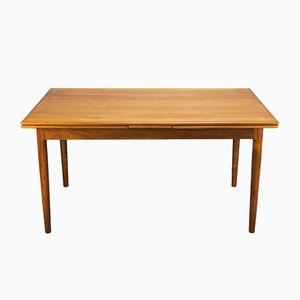 Mid-Century Danish Teak Extendable Dining Table from A.M., 1960s