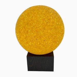 Tischlampe aus Holz & Farbglas von BIAB, 1970er
