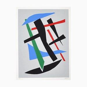 Serigrafía sin título vintage de Robert Jacobsen, años 80