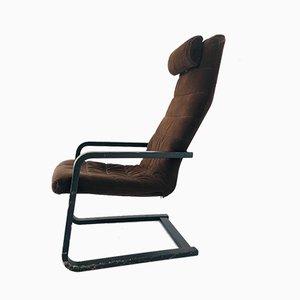 Poltrona in legno e velluto di Alvar Aalto, anni '70