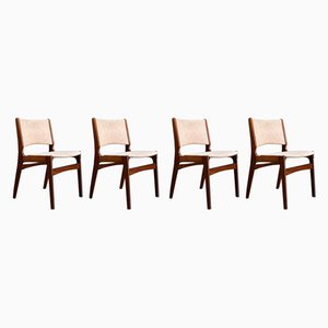 Danish Teak Model 89 Dining Chairs by Erik Buch, 1960s, Set of 4