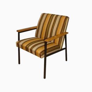 Tubular Steel Striped Lounge Chair, 1960s