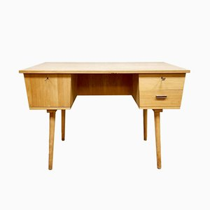 Mid-Century Industrial Birch Desk, 1960s