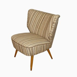Mid-Century Striped Lounge Chair, 1950s