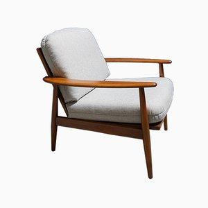 Dänischer Mid-Century Sessel mit Tweedbezug, 1960er
