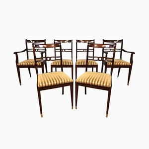 Mid-Century Wooden Dining Chairs, 1960s, Set of 6