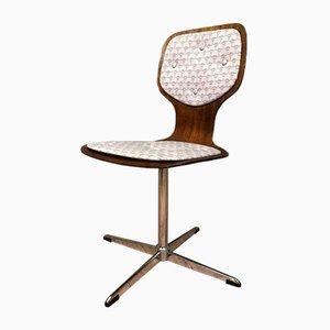 Esszimmerstühle aus Metall & Holz, 1960er, 6er Set