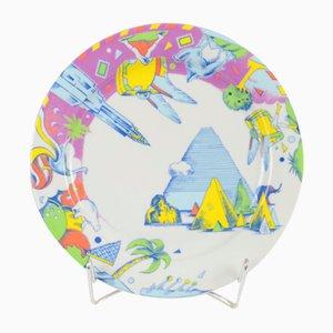 Postmodern Porcelain Bopla Plate from Langenthal, 1990s