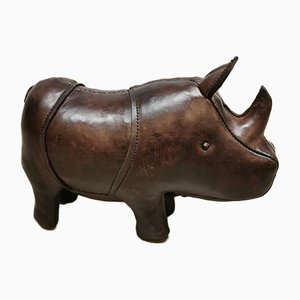 Small Leather Rhino by Dimitri Omersa, 1990s