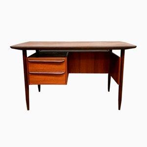 Bureau en Teck par Gunnar Nielsen Tibergaard pour Tibergaard, Danemark, 1960s