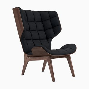Dark Stained Velvet & Midnight Blue Mammoth Chair by Rune Krojgaard & Knut Bendik Humlevik for Norr11