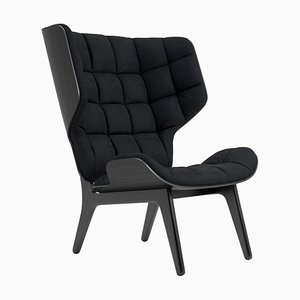 Black Velvet & Midnight Blue Mammoth Chair by Rune Krojgaard & Knut Bendik Humlevik for Norr11