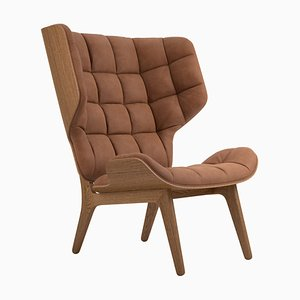 Smoked Oak & Rust Leather Mammoth Chair by Rune Krojgaard & Knut Bendik Humlevik for Norr11