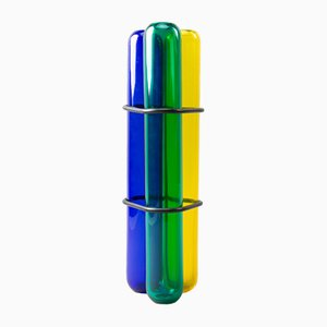 Vaso postmoderno in vetro colorato di Pierre Charpin per Venini, 2003