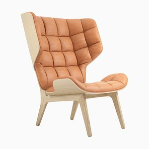 Cognac Leather Mammoth Chair by Rune Krojgaard & Knut Bendik Humlevik for NORR11