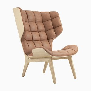 Camel Leather Mammoth Chair by Rune Krojgaard & Knut Bendik Humlevik for NORR11