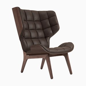 Dark Brown Stained Leather Mammoth Chair by Rune Krojgaard & Knut Bendik Humlevik for NORR11