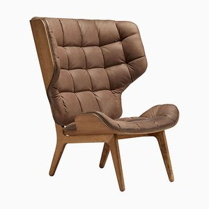 Smoked Oak & Dark Brown Leather Mammoth Chair by Rune Krøjgaard & Knut Bendik Humlevik for Norr11