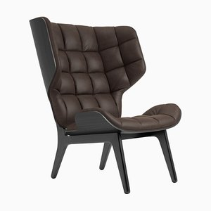 Dark Brown Leather Mammoth Chair by Rune Krojgaard and Knut Bendik Humlevik for NORR11