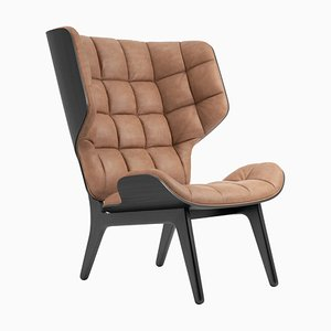 Black Oak & Camel Leather Mammoth Chair by Rune Krøjgaard & Knut Bendik Humlevik for Norr11