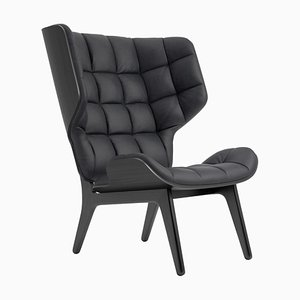 Black Oak & Anthracite Leather Mammoth Chair by Rune Krøjgaard & Knut Bendik Humlevik for Norr11