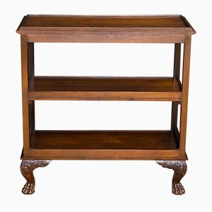 Antique Walnut 3 Tier Side Table