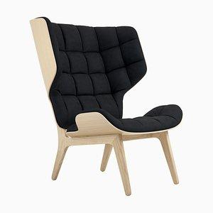 Mammoth Sessel aus natürlicher Eiche & mitternachtsblauem Samtbezug von Rune Krojgaard & Knut Bendik Humlevik für Norr11
