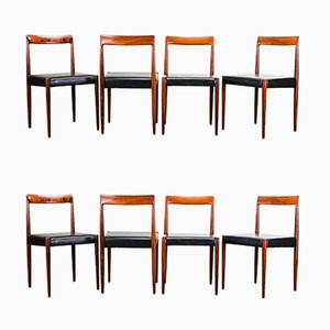 German Palisander Dining Chairs from Lübke, 1960s, Set of 8