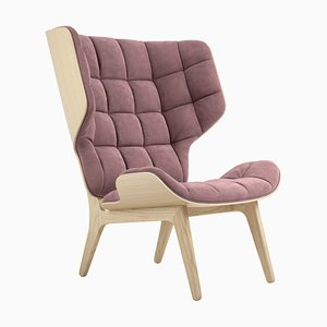 Natural Oak & Velvet Mammoth Chair by Rune Krojgaard & Knut Bendik Humlevik for Norr11