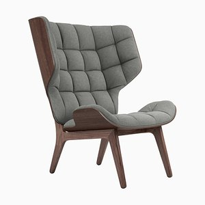 Dark Stained Oak & Light Grey Wool Mammoth Chair by Rune Krojgaard & Knut Bendik Humlevik for NORR11