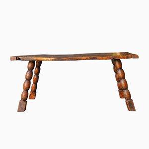 Tavolino da caffè in legno di quercia massiccio, XIX secolo
