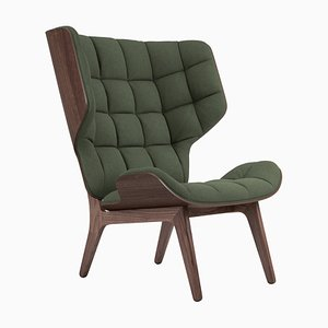Dark Stained Oak & Forest Green Wool Mammoth Chair by Rune Krojgaard & Knut Bendik Humlevik for NORR11