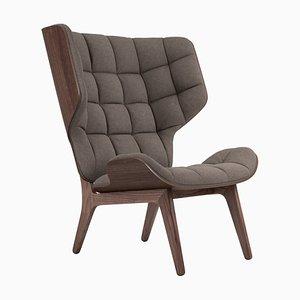 Mammoth Sessel aus dunkel gebeizter Eiche & Wolle in Beige von Rune Krojgaard & Knut Bendik Humlevik für NORR11