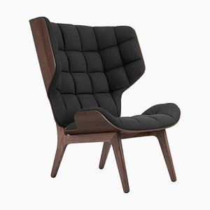 Dark Stained Oak & Coal Grey Wool Mammoth Chair by Rune Krojgaard & Knut Bendik Humlevik for NORR11