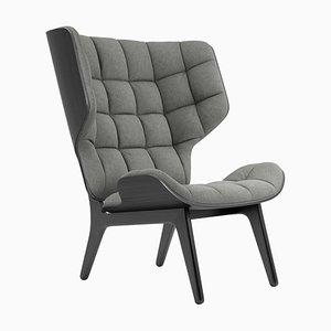 Mammut Sessel mit schwarzem Gestell aus Eiche & hellgrauem Wollbezu von Rune Krøjgaard & Knut Bendik Humlevik für Norr11