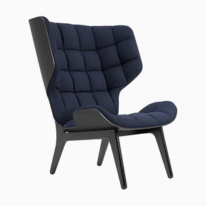 Black Oak & Navy Blue Wool Mammoth Chair by Rune Krojgaard & Knut Bendik Humlevik for Norr11