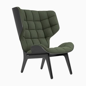 Black Oak & Forest Green Wool Mammoth Chair by Rune Krøjgaard & Knut Bendik Humlevik for Norr11