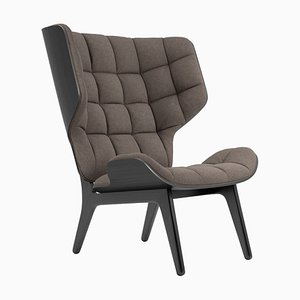 Black Oak & Fawn Wool Mammoth Chair by Rune Krojgaard & Knut Bendik Humlevik for Norr11