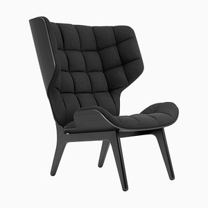 Black Oak & Wool Coal Grey Mammoth Chair by Rune Krojgaard & Knut Bendik Humlevik for Norr11