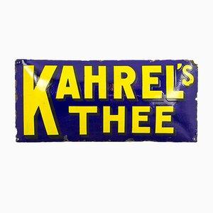 Señal de té Kahrel's alemana vintage esmaltada, años 20