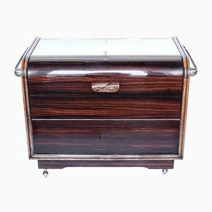 Mueble bar italiano Art Déco vintage, años 30