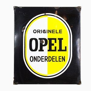 Industrielles niederländisches Vintage Opel Schild, 1920er