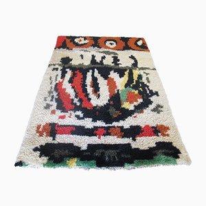 Alfombra Rya finlandesa Mid-Century abstracta, años 50
