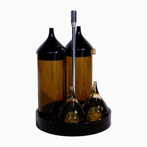 Italienisches Gewürz-Set aus Chrom & Kunststoff von Guzzini, 1970er