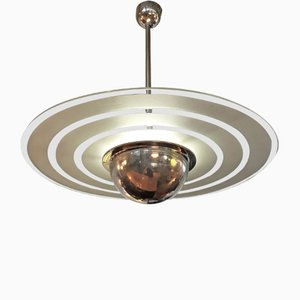 Functionalist Ceiling Lamp by Leonard Beitler, 1920s